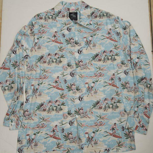ビッグアイランド ブルー 長袖